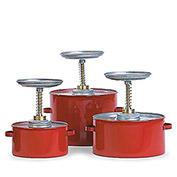"Eagle Steel Plunger Cans - 8"" Dia.X10-3/4""H - 4-Quart Capacity"