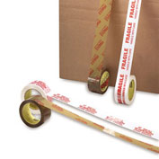 "3M Scotch Brand Printed Message Carton Tape - 2"" X 110 Yards - 1.9 Mil - Fragile Handle With Care - Pkg Qty 36"