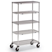 "Metro qwikSLOT Wire Shelf Trucks - 48"" Wx24"" D Shelf"