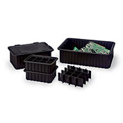 LewisBins Snap-On Lids For Conductive Divider Boxes - Fits Divider Box 4711300, 4711600, 4711700