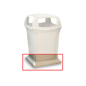 Rubbermaid Weighted Base For Ranger Receptacles - Fits 45-Gallon Receptacles - Beige