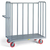 "Little Giant Heavy-Duty Open Cage Trucks - Mold-On Rubber Casters - 48""Wx30""Dx57""H"