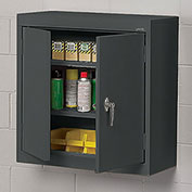 "Sandusky Lee Wall-Hung Cabinet With Steel Doors - 30X12X30"" - Dark Gray"