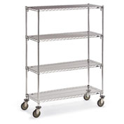 "Metro Super Adjustable Super Erecta Wire Shelf Trucks - 48"" Wx24"" D Shelf - 68"" H"