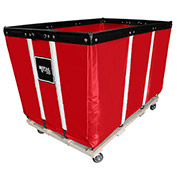 "20 BU-Standard-Duty Basket Trucks By Royal - Vinyl Liner - 32""Wx48""Dx36""H 4 Swivel Casters-Red"