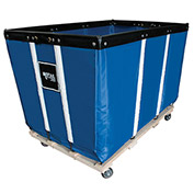"20 BU-Standard-Duty Basket Trucks By Royal - Vinyl Liner - 32""Wx48""Dx36""H 4 Swivel Casters-Blue"