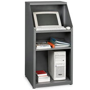 "Relius Solutions Stationary Compact Computer Workstation, 23""W x 23""D x 50""H, Dark Gray"