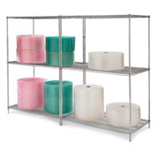 "Relius Solutions Wire Shelving With Chrome Finish 48""W X 30""D X 86""H"