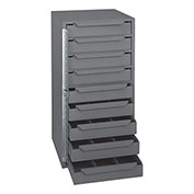 "Durham Bar-Lock Steel Drawer Cabinet - 12-9/16 X12X24-3/8"" - (9) 10-15/16 X10-3/4 X1-15/16"" Drawers"