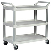 "Rubbermaid Xtra Carts With Aluminum Uprights - 40-3/4""Wx20""D Shelf - Off-White"