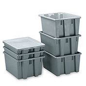 Rubbermaid Palletote Box FG172100GRAY 1.3 Cu. Ft. - Pkg Qty 10