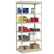 "Penco Rivet-Rite Single-Rivet 250-350-Lb. Capacity High-Density Shelving - 36X18X84"" - No Decking"