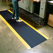 "Wearwell Diamond-Plate Spongecote Mat 415.916X3X5BYL - 36X60"" - Black/Yellow"