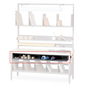"Built-Rite 72"" Under Bench Tissue Shelf For Packing Benches"