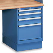 "Lista 4-Drawer Pedestal - 2-7/8"", 3-7/8"", 4-7/8"", 11-1/2"" Front Drawer Heights - Without Partitions"