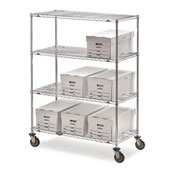 "Metro Super Erecta Shelf Trucks with Wire Shelves - 36"" Wx24"" D Shelf - 68"" H"