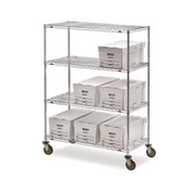 "Metro Super Erecta Shelf Trucks with Wire Shelves - 72"" Wx18"" D Shelf - 68"" H"