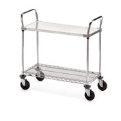 "Metro Galvanized/Wire Carts - 48""W x 24""D Shelf"