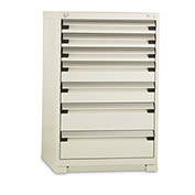 "Rousseau Standard-Width Drawer Cabinet - 36X24X46"" - 7 Drawers - Everest Blue"