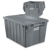"Relius Solutions Tote With Attached Lid - 21.8"" X 15.8"" X 12.9"" - Gray"