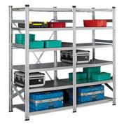 "Metalsistem Boltless Galvanized Shelving - 36X20X83"" - Add-On Unit"