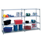 "Metro 5A557C Super Adjustable 2 Shelving - 48x24x74"" - Starter Units"