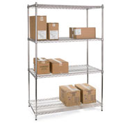 """Relius Solutions Wire Shelving With Chrome Finish 72""""W X 24""""D X 86""""H"""