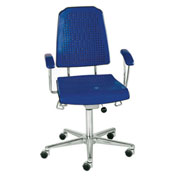 Milagon Aklaim Premium Multi-Shift Blue And Black Seating - Chair - Floor Glides - Black