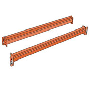 "Husky Rack & Wire IBX48120C Pallet Rack Solid Beam - 120X5""- Regular Duty - One Piece"