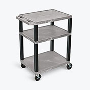 "Luxor Tuffy Utility Carts - 24""Wx18""D Shelf - 34""H Gray"