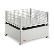 Mini-Bulk Container 38x38x16 260 Lb Capacity - Wire Mesh Sides