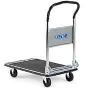 "Relius Elite Premium Fold-Down Handle Platform Truck with Steel Deck - 28""L x 17.7""W Deck"