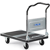 "Relius Elite Steel Deck Platform Truck with Folding Handle - 35.4""L x 23.6""W Deck - 8.3"" Deck Height"