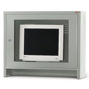 Relius Solutions Monitor Hood For Mobile Computer Cabinets Gray