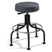 "Bevco Padded Polyurethane Chair - Tubular Steel Base - 20-25"" Seat Height Graphite"