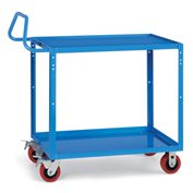 "Relius Elite Premium Multi-Use Cart Ergonomic Handle 48-1/4"" Wx24-1/4"" D Shelves 5""  Casters Blue"