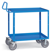 "Relius Elite Premium Multi-Use Cart Ergonomic Handle 48-1/4"" Wx24-1/4"" D Shelves 8""  Casters Blue"