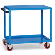 "Relius Elite Premium Reversible-Shelf Utility Truck 36-1/4"" Wx24-1/4"" D Shelves 5""  Casters Blue"