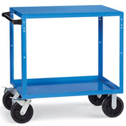 "Relius Elite Premium Reversible-Shelf Utility Truck 48-1/4"" Wx24-1/4"" D Shelves 8""  Casters Blue"