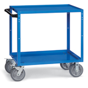 "Relius Elite All-Welded Utility Cart 48-1/4"" Wx24-1/4"" D Shelves 8"" Non-Marking Rubber Casters"