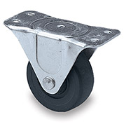 "Faultless Light-Duty Casters -Rigid - 3""Dia.X1--1/4""W Hard Rubber Wheel"