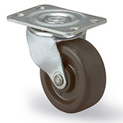 "Faultless Light-Duty Casters - Swivel - 5""Dia.X1-1/4""W Hard Rubber Wheel"