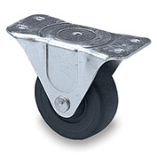 "Faultless Light-Duty Caster - Rigid - 4""Dia. x 1-1/4""W Hard Rubber Wheel"