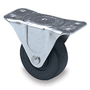 "Faultless Light-Duty Caster - Rigid - 5""Dia. x 1-1/4""W Hard Rubber Wheel"