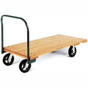 "Fairbanks Premium Oak Bantamweight Platform Truck - 48""L x 24""W Deck - 8"" Full Pneumatic"