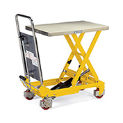 Hercules Mobile Scissor Lift Tables - 1100-Lb. Capacity - Type 304 Stainless Steel Top