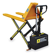 Hercules Battery-Powerred High Lift Pallet Positioner Pallet Truck - 3300-Lb. Capacity - 27X44-1/2""