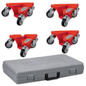 Relius Solutions Low-Profile Triangle Dollies - Case Of 4 - Includes Case - 880 Lb. Cap. for Set