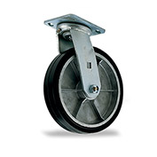 "Mold-On Rubber Caster - Swivel - 6"" Dia. x 2""W Wheel"