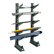 """Jarke Button-On Cantilever Rack Arms - 24""""L - Arm Cap. Lbs. 700 - Straight Arm with Lip"""